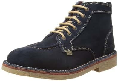 Kickers Mens Legendry B Desert Boots 112630 Dark Blue/Orange 9 UK, 43 EU