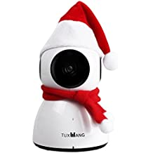 tuxwang 1080P HD telecamera di sorveglianza con Deutscher APP, Mini Pupazzo di neve con Cloud anbindung (Audio a 2Vie, Pan/Tilt, ecc.)