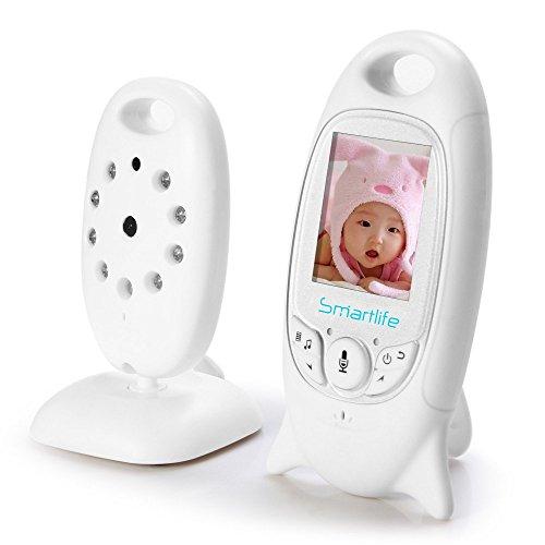 Smartlife VB601 2.4 GHz Vigilabebés Bebé Monitor LCD Inlámbrico Digital Vídeo Audio Cámara Seguridad...