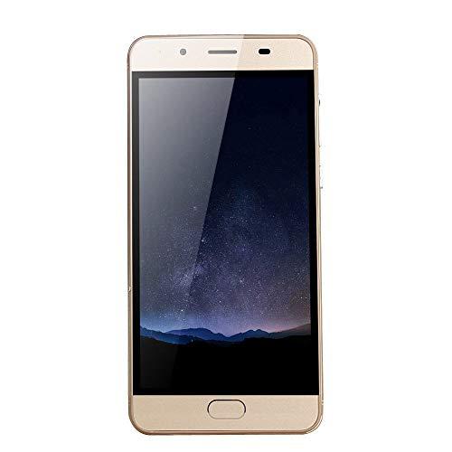 "Oasics Smartphone, WiFi Bluetooth GPS 4G Vollbildanruf 5,0""Ultradünne Android5.1 Quad-Core 512 MB + 512 MB GSM WiFi Dual-SIM-Dual-Kamera intelligentes Mobiltelefon (Gold)"