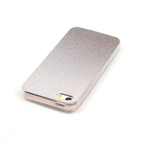 iPhone Case Cover IPhone 5 5S SE Cover, Transparent Gradient Couleur Soft TPU Housse de protection Couverture souple arrière pour iPhone 5 5S SE ( Color : Deongaree , Size : IPhone 5 5S ) Gray