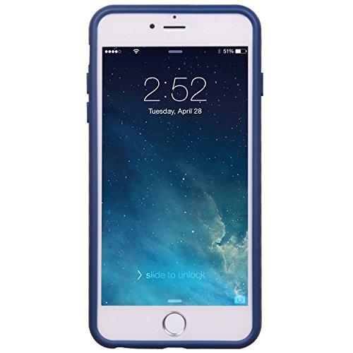 iPhone 6 6S Plus 14 cm Fall, Hülle, Case True Color® mehrere Golden Verankert auf Marineblau Slim Hybrid Hard Back + weich TPU Bumper Schutz Langlebig [True Schützen Serie] + kostenlosem Stylus und Di dunkelblau