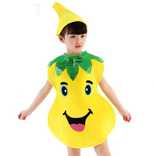 kinder tanzbekleidung performance schule spiel party kostüme klassik jungen mädchen wear kinder bühnenschüler gruppen team welt früchte und veggies , 4# , xxl (Vier Mädchen, Gruppe Halloween-kostüme)