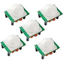 HiLetgo 5pcs HC-SR501 Human Sensor Module Pyroelectric Infrared PIR Motion Detector Modules