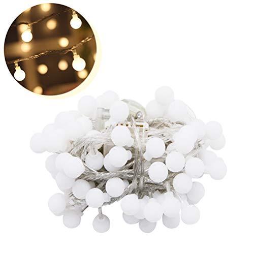 Vosarea 3M 20LED Lichterketten wasserdichte Globe Bulbs Ball Fairy Lights USB-Stecker In Sternenlichter Warm White Ambiance Lichtstreifen Licht Perfekt für den Innen- und Außenbereich -