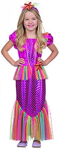 Kleine Meerjungfrau Kleid Kostüm für Mädchen (Zauberer Kostüm Für Kleine Mädchen)