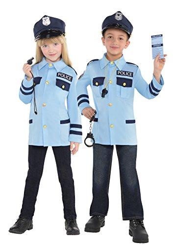 Polizeikostüm-Set Kinder 4-6 (Policeman Kostüme Dress Fancy)