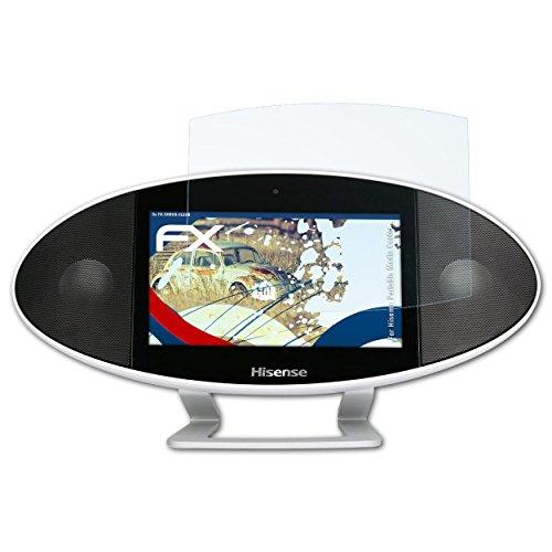 atFoliX Schutzfolie kompatibel mit Hisense Portable Media Center Panzerfolie, ultraklare und stoßdämpfende FX Folie (3X)