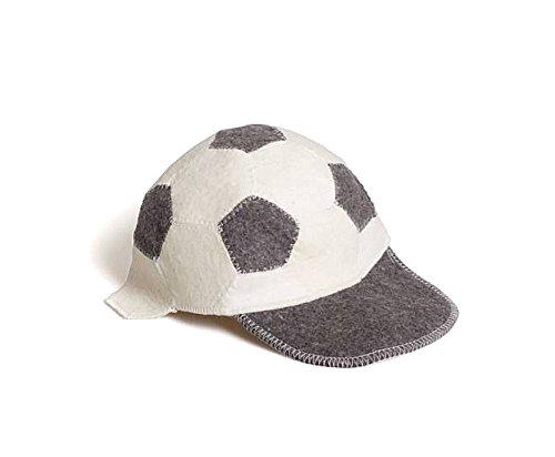 """!SPEZELLES FIFA WORLD CUP ANGEBOT! Sauna Zubehör HANDMADE SAUNAMÜTZE SAUNAHUT Filz Kappe (Motiv: """"FUßBALL"""") für Damen&Herren 100% WOLLE UNIVERSALGRÖßE (Witzige Badeartikel) / Sauna Hat"""