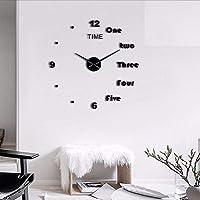 Wmbz 1 Pieza DIY Cartas Inglesas Reloj De Pared Reloj DIY Gigante Sin Marco 3D Gran
