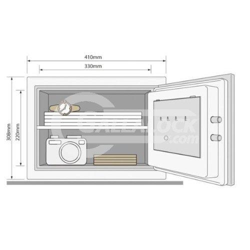 Yale YFM 310FG2Certificado Fire-ald16armario caja fuerte con cierre electrónico 26kg 1Hora Protección...