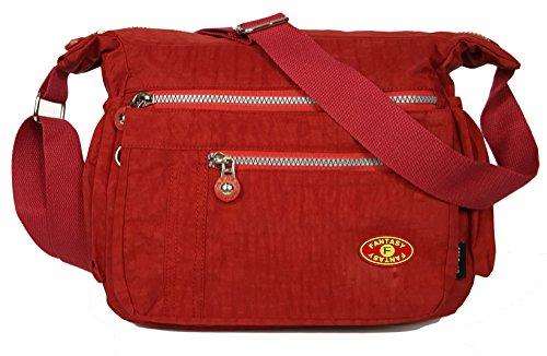 GFM Fashion, Borsa a tracolla donna Small Style 1 - Red (VLL)