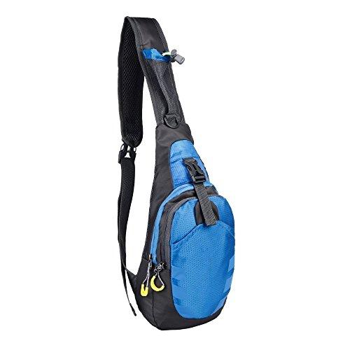 Sling Rucksack ATailorBird Umhängetasche Brust Schulter Rucksäcke für Radfahren Wandern Rucksack Sporttasche Multipurpose Tagepacks-Blau -