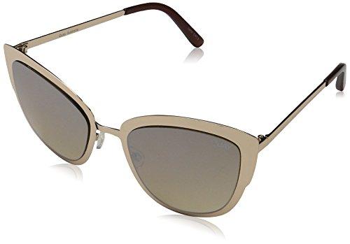 Quay Eyewear Damen Sonnenbrille Super Girl, Gold/Gold Mirror, 147