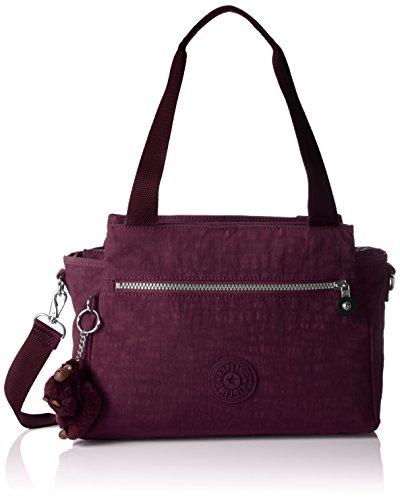 Kipling ELYSIA Damen Henkeltaschen 29.5x23x12.5 cm (B x H x T), Violett (34Z Plum Purple)