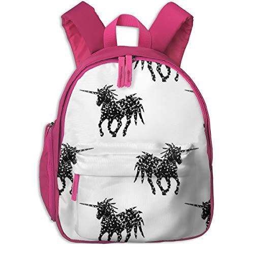 Zaino per bambini 2 anni,Unicorno Black_3938 - miamea, Per scuole per bambini Oxford panno (rosa)