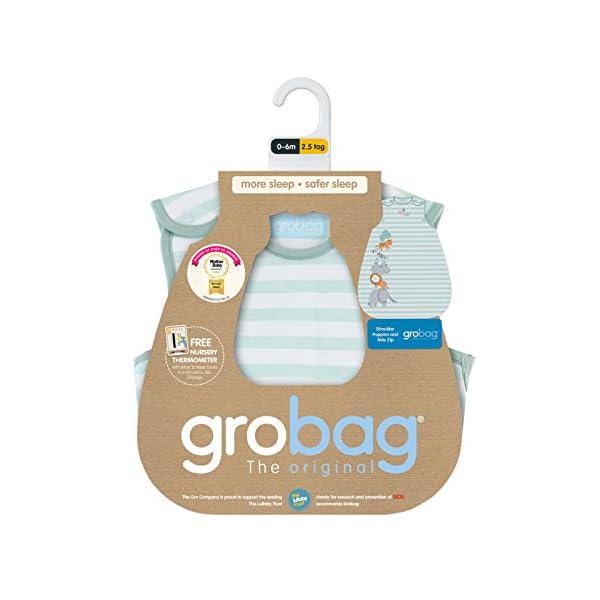 The Gro Company – Saco de dormir para bebé con motivos de animales de la selva azul Talla:18-36 Months