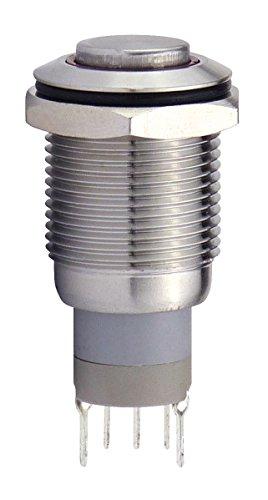 Blanko 207054 Metalltaster 16 mm mit Ringbel. Blau 1 x Schliesser, 1 x Öffner