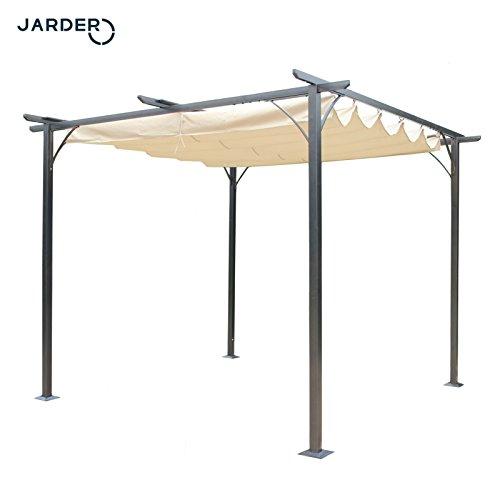 Jarder Gazebo 3x3m Beige Outdoor Garden Patio Pavilion