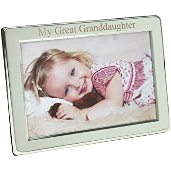 Occasions Direct Silver Plated My Great Granddaughter Photo Frame, 4 ...