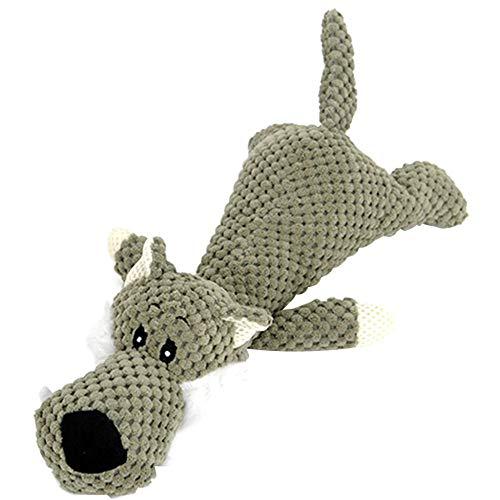 JKRTR Haustier Hund Quietschendes Zahnpflege Spielzeug InteraktivesPlüschtier süßes kleines Spielzeug(Grün,Freie Größe)