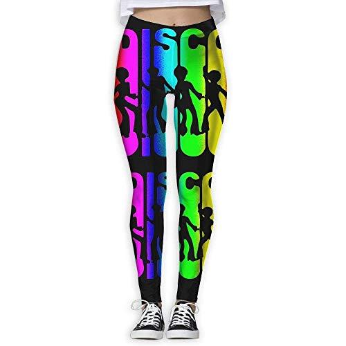 Yogahosen, Trainingsgamaschen,Retro Disco Dance Women's Stretchable Sports Running Yoga Workout Leggings Pants