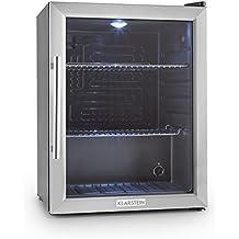 Klarstein frigorifero Beersafe XL 60 litri di classe A++ con elegante porta in vetro (frigo minibar, silenzioso, ridotto consumo energetico, illuminazione interna LED commutabile) -