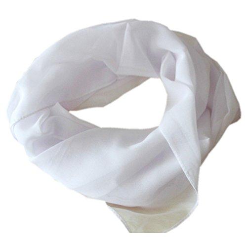 DOLCE ABBRACCIO Damen Schal Stola Halstuch Tuch aus Chiffon für Frühling Sommer Ganzjährig Weiß