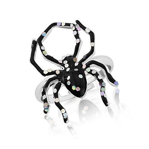 Halloween, Kostüm Glitzer Ring Spinne und -
