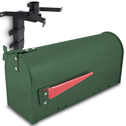 US Mailbox Amerikanischer Briefkasten Standbriefkasten Wandbriefkasten Letterbox Grün Inclusive Wandhalter