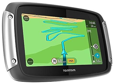 TomTom Rider 400 Motorradnavigationsgerät (10,9 cm (4,3 Zoll) Display, Free Lifetime Map, Europa 45, kurvenreiche Strecke, Lifetime TomTom Traffic) (Navigationsgerät Kaufen)