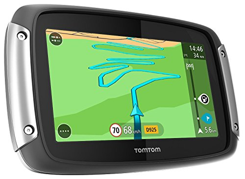 TomTom Rider 400 Motorradnavigationsgerät (10,9 cm (4,3 Zoll) Display, Free Lifetime Map,...