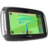"""TomTom Rider 400 - GPS para motos de 4.3 """" (trafico, radares, mapas de Europa), negro y gris"""