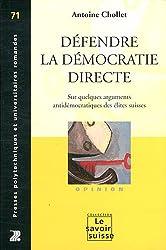 Défendre la démocratie directe : Sur quelques arguments antidémocratiques des élites suisses