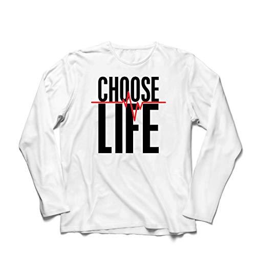 irts Wählen Sie das Leben Herzschlag, Anti-Abtreibung politischen Protest, Christian Zitat (XXXXX-Large Weiß Mehrfarben) ()