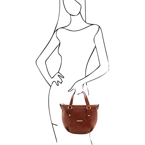 Tuscany Leather Olga - Sac shopping en cuir Rouge Sacs à main en cuir Rouge