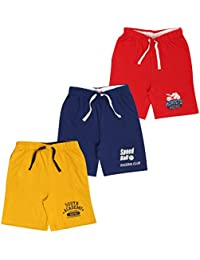 MIDAAS Boy's Cotton Shorts - Set of 3