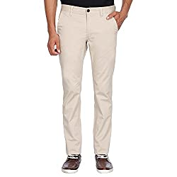 Indian Terrain Mens Casual Trousers (8907468561024_CORE-LENNOX-BEIGE-40)