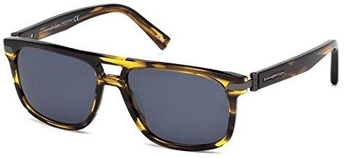 lunettes-de-soleil-ermenegildo-zegna-ez0042-c57-46v-matte-light-brown-blue
