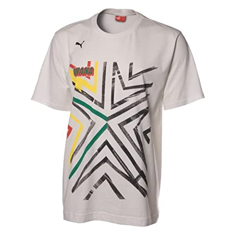 Puma Africa Graphic Tee Children's T-Shirt White star white-(Ghana) Size:9