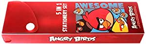 Angry Birds Pvc Compass Box With Stationery, Multicolor