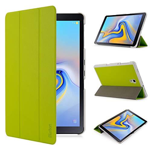 iHarbort Hülle Cover kompatibel mit Samsung Galaxy Tab A 10.5 Zoll (2018 veröffentlicht SM-T590 / T595) - Ultra dünn Etui Schutzhülle Case Holder Stand mit Smart Auto Wake/Sleep Funktion, grün