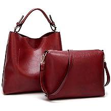ab74e154ce BAGTECH Donna Borsa Hobo PU Pelle Borse a Mano Modo Handbag Borsa a Spalla  Set