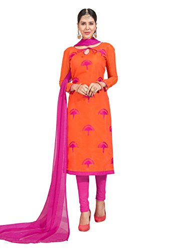 Kanchnar Chanderi Embroidery Unstitched Dress Material
