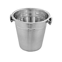Kosma Stainless Steel Champagne Bucket | Beverage Bucket | Ice Bucket Wine Cooler, Bottle Cooler - 21 X 21cm