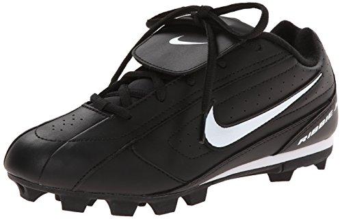 Nike Ribbie Jr (BG) 309303-011 Black White Lace-Up Baseball Cleats -