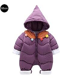 d25a812d57af heresell Baby Jumpsuit Tutina Bambino Inverno Tuta Girls Snow Wear Vite con  Cappuccio Neonato 0 –