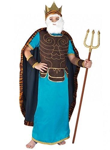 Für Jungen Griechische Kostüm Götter - Chiber - Neptun-Kostüm für Kinder / Poseidon-Kostüm Verkleidung für Karneval (8-10 Jahre)