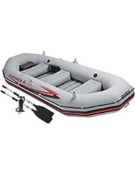 Intex - Barca hinchable Intex mariner 4 & remos 137 cm-328x145x48 cm - 68376NP