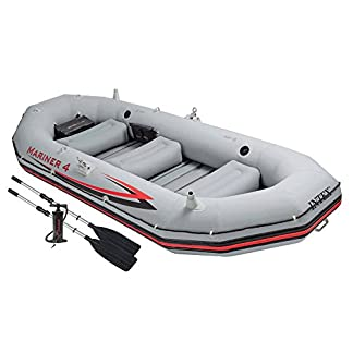 Intex Mariner 4Inflatable Dinghy Boat Set Phthalate Free with Paddle and Pump–Professional Series 68376NP